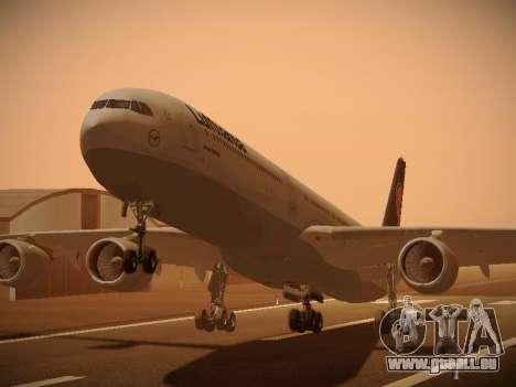 Airbus A340-600 Lufthansa pour GTA San Andreas laissé vue