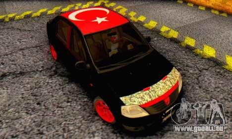 Dacia Logan Turkey Tuning für GTA San Andreas Innenansicht