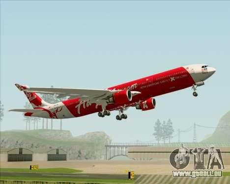 Airbus A330-300 Air Asia X für GTA San Andreas Unteransicht