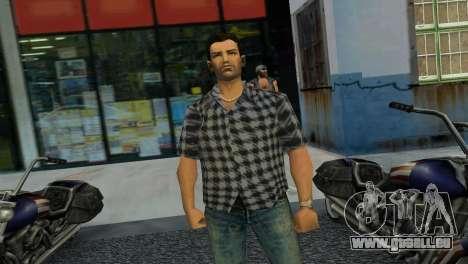Kockas polo - szurke T-Shirt GTA Vice City pour la troisième écran