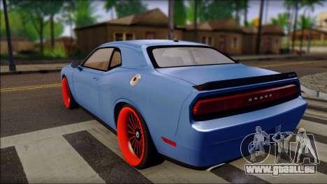 Dodge Challenger SRT8 Stance pour GTA San Andreas laissé vue