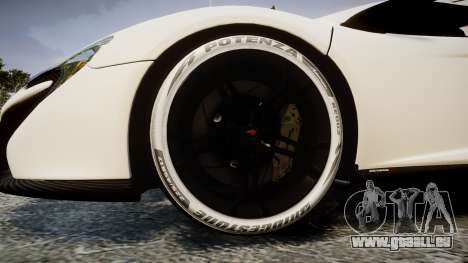McLaren 650S Spider 2014 [EPM] Bridgestone v3 pour GTA 4 Vue arrière