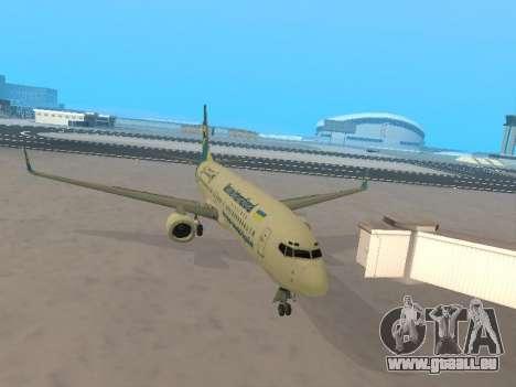 Boeing 737-84R Ukraine International Airlines pour GTA San Andreas vue intérieure