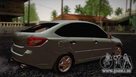 Lada Granta Liftback pour GTA San Andreas laissé vue