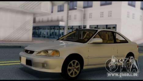 Honda Civic Si 1999 pour GTA San Andreas vue de droite