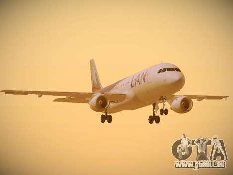 Airbus A320-214 LAN Airlines pour GTA San Andreas laissé vue