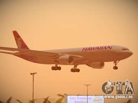 Airbus A330-200 Hawaiian Airlines pour GTA San Andreas roue
