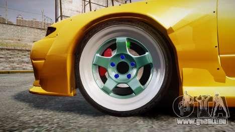 Nissan Silvia S15 Street Drift [Updated] pour GTA 4 Vue arrière