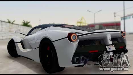 Ferrari LaFerrari 2014 (HQLM) pour GTA San Andreas laissé vue