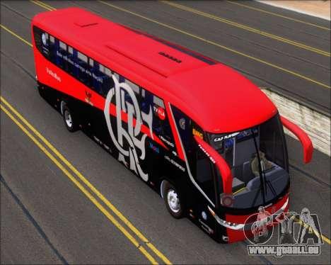Marcopolo Paradiso 1200 G7 4X2 C.R.F Flamengo für GTA San Andreas Rückansicht