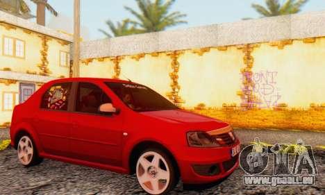 Dacia Logan Delta Garage pour GTA San Andreas