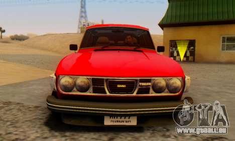 Saab 99 Turbo 1978 für GTA San Andreas zurück linke Ansicht