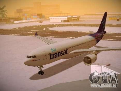 Airbus A330-200 Air Transat pour GTA San Andreas laissé vue