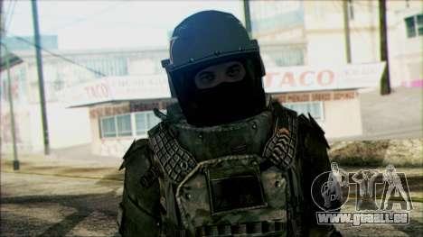 Les soldats aéroportés (CoD: MW2) v3 pour GTA San Andreas troisième écran