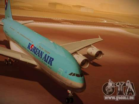 Airbus A380-800 Korean Air für GTA San Andreas linke Ansicht