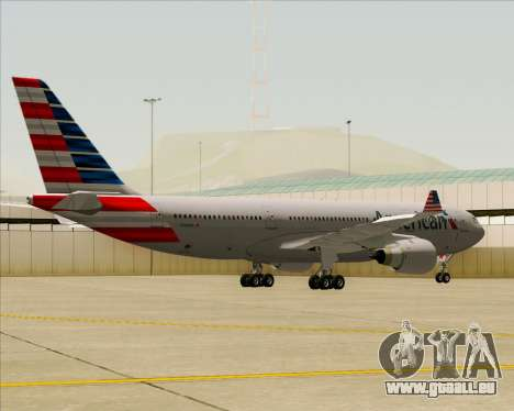 Airbus A330-200 American Airlines pour GTA San Andreas vue arrière
