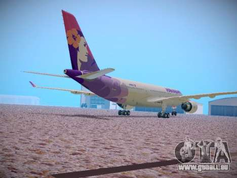 Airbus A330-200 Hawaiian Airlines pour GTA San Andreas vue intérieure