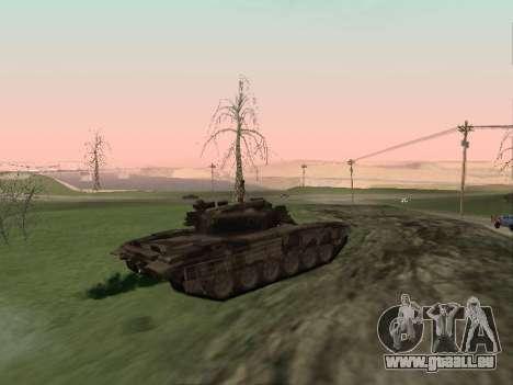 T-72 pour GTA San Andreas sur la vue arrière gauche