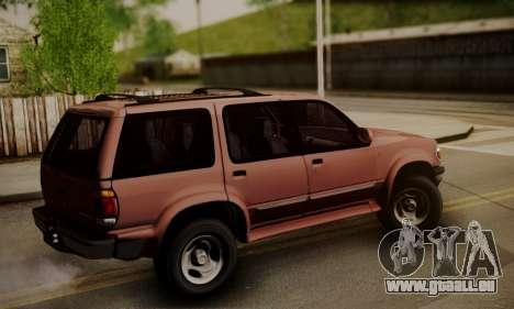 Ford Explorer 1996 pour GTA San Andreas laissé vue