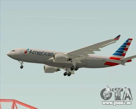 Airbus A330-200 American Airlines pour GTA San Andreas vue de dessous