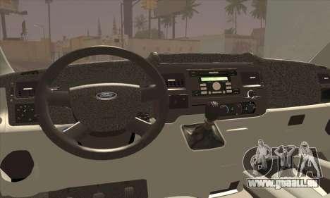 Ford Transit Limited Edition pour GTA San Andreas sur la vue arrière gauche