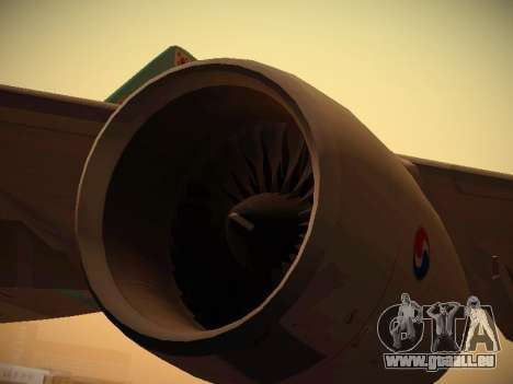 Airbus A380-800 Korean Air pour GTA San Andreas salon