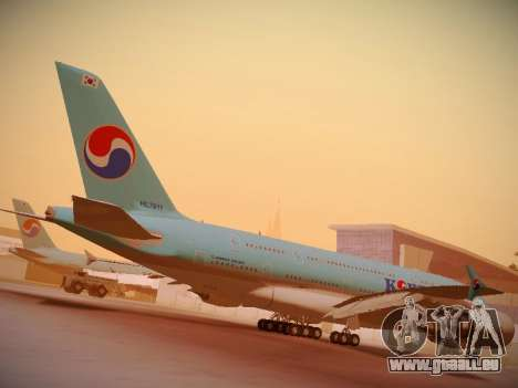 Airbus A380-800 Korean Air für GTA San Andreas obere Ansicht