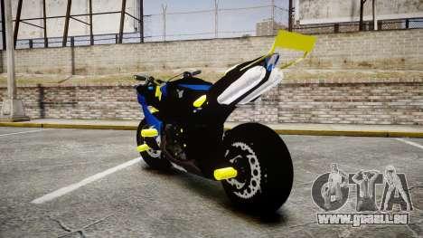 Yamaha R1 2007 Stunt für GTA 4 hinten links Ansicht