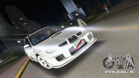 Subaru Impreza WRX STI 2006 Type 3 pour GTA Vice City vue arrière
