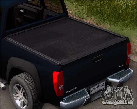 Chevrolet Colorado für GTA San Andreas obere Ansicht