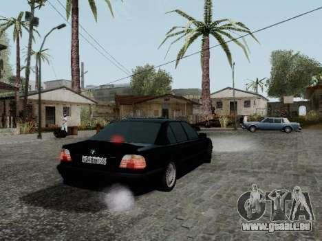 BMW 760i E38 für GTA San Andreas zurück linke Ansicht