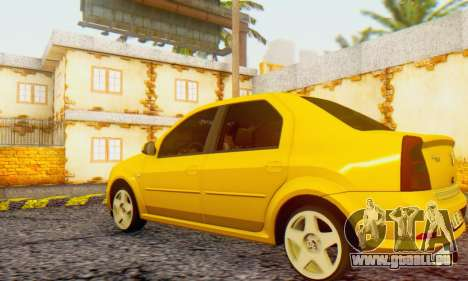Dacia Logan Delta Garage pour GTA San Andreas laissé vue