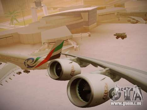 Airbus A380-800 Emirates Rugby World Cup für GTA San Andreas obere Ansicht