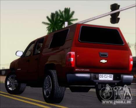 Chevrolet Silverado 2011 pour GTA San Andreas moteur