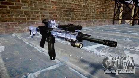 Fusil automatique Colt M4A1 tigre bleu pour GTA 4