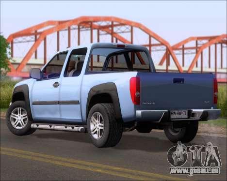Chevrolet Colorado pour GTA San Andreas laissé vue