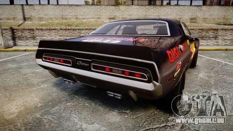 Dodge Challenger 1971 v2.2 PJ8 pour GTA 4 Vue arrière de la gauche