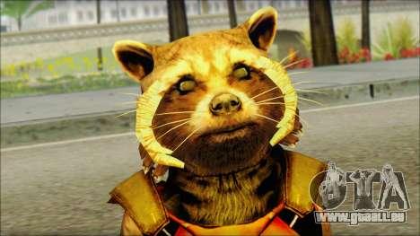 Guardians of the Galaxy Rocket Raccoon v2 für GTA San Andreas dritten Screenshot