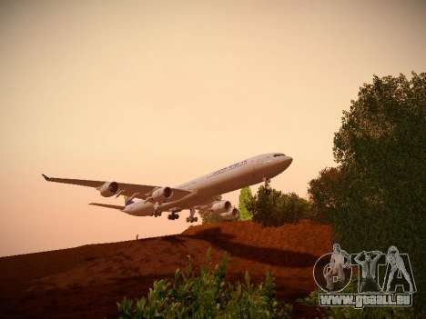 Airbus A340-600 South African Airways für GTA San Andreas Innenansicht