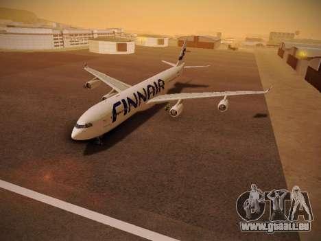 Airbus A340-300 Finnair pour GTA San Andreas vue intérieure