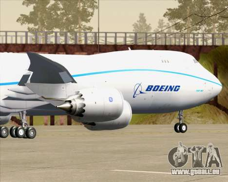 Boeing 747-8 Cargo House Livery für GTA San Andreas Seitenansicht