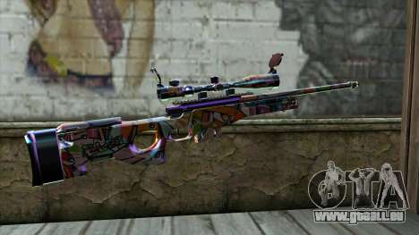Graffiti Sniper Rifle für GTA San Andreas zweiten Screenshot