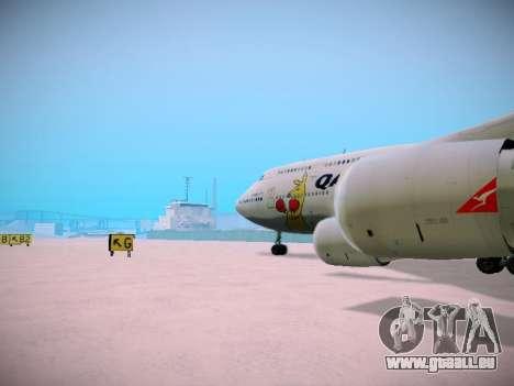 Boeing 747-438 Qantas Boxing Kangaroo für GTA San Andreas Innen