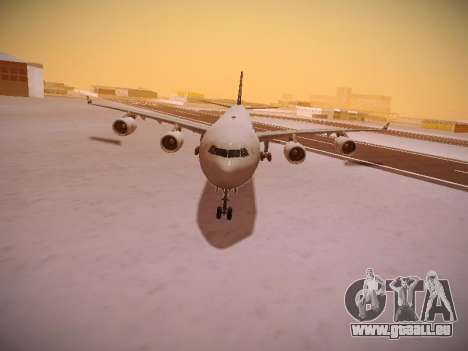 Airbus A340-600 South African Airways pour GTA San Andreas laissé vue