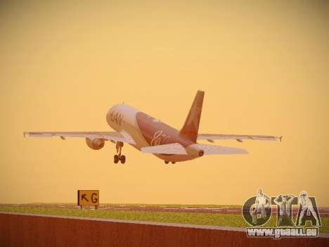 Airbus A320-214 LAN Airlines 80 Years pour GTA San Andreas vue intérieure