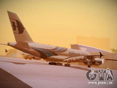 Airbus A380-800 Malaysia Airlines für GTA San Andreas Innen