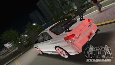 Subaru Impreza WRX STI 2006 Type 3 pour une vue GTA Vice City de la gauche