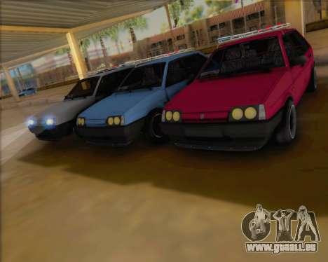 ВАЗ 2109 Niedrigen Classic für GTA San Andreas zurück linke Ansicht