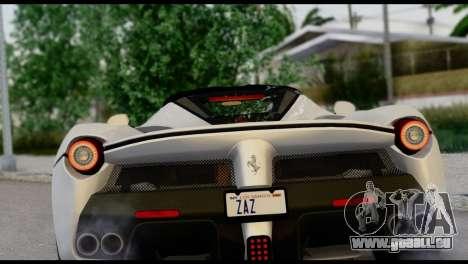 Ferrari LaFerrari 2014 (HQLM) für GTA San Andreas Rückansicht