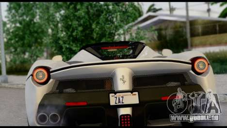 Ferrari LaFerrari 2014 (HQLM) pour GTA San Andreas vue arrière